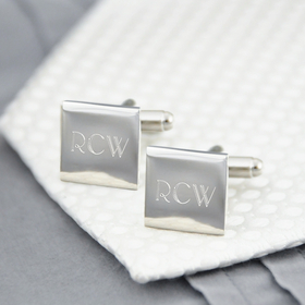 Cathy's Concepts 1103S Silver Square Cuff Links