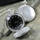Cathy's Concepts 1745B Black Face Silver-Plated Pocket Watch