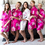 Cathy's Concepts 1806 Personalized Floral Satin Robe