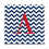 Cathy's Concepts 2107C Chevron Pattern Initial Wrapped Canvas