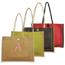 Cathy's Concepts 2134G Green Personalized Newport Jute Tote