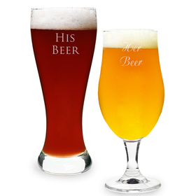 Cathy's Concepts 2223 Custom His & Hers Pilsner Set, Price/set