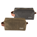Cathy's Concepts 2545 Personalized Men's Waxed Canvas and Leather Dopp Kit