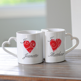 Cathy's Concepts 3600H Personalized Heart Mugs, Price/Set of 2