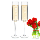 Cathy's Concepts 3668 8 oz. Contemporary Champagne Flutes