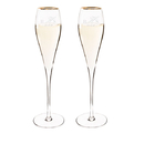 Cathy's Concepts 3670G Personalized 7 oz. Gold Rim Champagne Flutes (Set of 2)