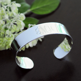 Cathy's Concepts B9154S Personalized Wide Cuff Bracelet