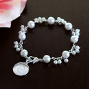 Cathy's Concepts B9270 Personalized Romance Pearl Bracelet