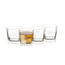 Cathy's Concepts BIC-1115-4 10.5 oz. Bicycle Rocks Glasses