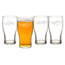 Cathy's Concepts BP4115-4 19 oz. Beer Pun Pilsner Glasses