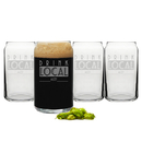 Cathy's Concepts DL-1289-4 Personalized Drink Local Craft Beer Can Glasses