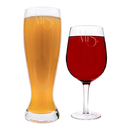 Cathy's Concepts GMRS-S2550 Mrs. & Mrs. Gatsby XL Beer and Wine Glass Set