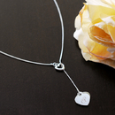 Cathy's Concepts N1027S Personalized Double Heart Lariat Necklace