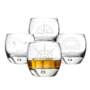 Cathy's Concepts NAU-1116 Personalized 10.75 oz. Nautical Heavy based Whiskey Glasses
