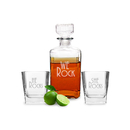 Cathy's Concepts RS1193 We Rock Decanter & Glass Set