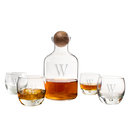 Cathy's Concepts S1393 Personalized Glass Decanter with Wood Stopper Set