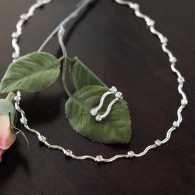 Cathy's Concepts S1951S Contemporary Rhinestone Jewelry Set