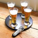 Cathy's Concepts S2150B Beer Flight Sampler w/ Bottle Opener
