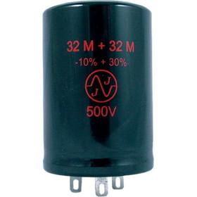 JJ Electrolytic Capacitor, 32/32uF 500VDC