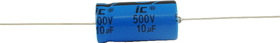 Capacitor - Axial Lead Electrolytic, 10 µF @ 500 VDC