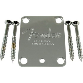 Neck plate, Fender American Standard guitar, chrome