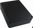 "Box - Hammond, Black Aluminum, 4.67"" x 3.68"" x 1.1"" Depth"