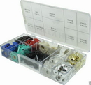 CE Distribution Knob Kit - Chicken Head, Brass Insert, 67 Knobs, Multi-Color