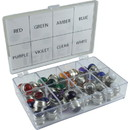 CE Distribution Indicator Lamp Jewel Kit - 8 colors, 5 of each, 40 total pcs