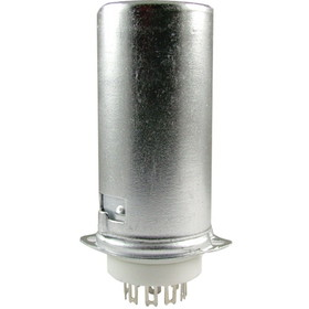 Socket, 9 pin miniature, ceramic base with aluminum shield