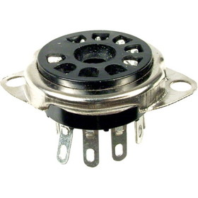 "Socket - 9 Pin, ?¾"" Chassis Hole, 1-1/8"" Mounting Centers"