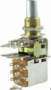 Potentiometer - Dual Mini Guitar Potentiometers w/ Push Pull Switch (PDB183-GTR21), Audio, Knurled Split Shaft