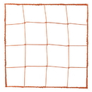 Champion Sports 203OR 3.0 mm Official Size Soccer Net, Orange
