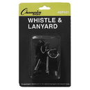 Champion Sports BP601 Plastic Whistle With Lanyard