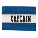 Champion Sports CAPBL Adult Captain Arm Band, Royal Blue/White
