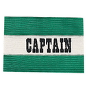 Champion Sports CAPGN Adult Captain Arm Band, Green/White