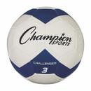 Champion Sports CH3BL Challenger Series Size 3 Soccer Ball, Royal/White