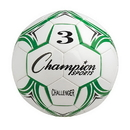 Champion Sports CH3GN Challenger Series Size 3 Soccer Ball, Green/White