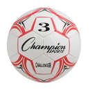Champion Sports CH3RD Challenger Series Size 3 Soccer Ball, Red/White