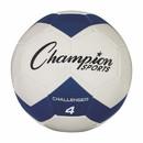 Champion Sports CH4BL Challenger Series Size 4 Soccer Ball, Royal/White