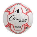 Champion Sports CH4RD Challenger Series Size 4 Soccer Ball, Red/White