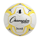 Champion Sports CH4YL Challenger Series Size 4 Soccer Ball, Yellow/White