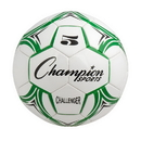 Champion Sports CH5GN Challenger Series Size 5 Soccer Ball, Green/White