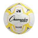Champion Sports CH5YL Challenger Series Size 5 Soccer Ball, Yellow/White