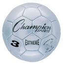 Champion Sports EX3SL Extreme Series Size 3 Soccer Ball, Silver