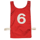 Champion Sports NP2RD Heavyweight Numbered Pinnie, Red