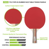 Champion Sports Pn10 Table Tennis/Ping Pong Racquet/Paddle/Racket