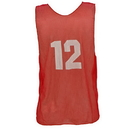 Champion Sports PSANRD Adult Numbered Practice Vest, Red