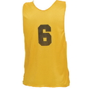 Champion Sports PSYNYL Youth Numbered Practice Vest, Yellow