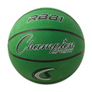 Champion Sports RBB1GN Pro Rubber Basketball, Green