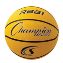 Champion Sports RBB1YL Pro Rubber Basketball, Yellow